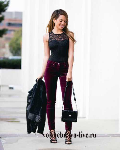 Обувь бордового цвета — с чем носить