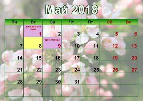 Майские праздники 2018: ТОП