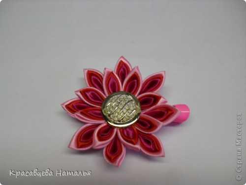 Цветы канзаши из атласных лент