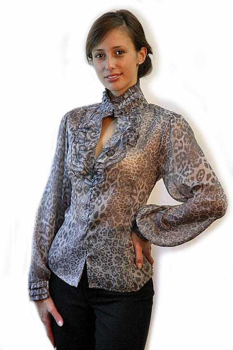 Модные женские блузки из шифона
