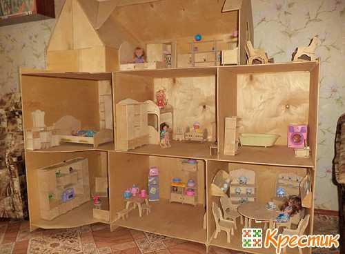 Домик для кукол своими руками: из чего и как его