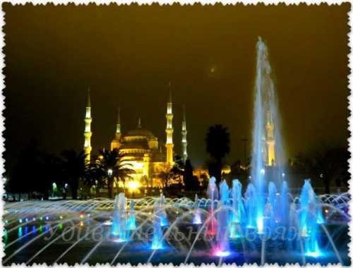 Путешествия: Заснеженная Голубая мечеть в Стамбуле