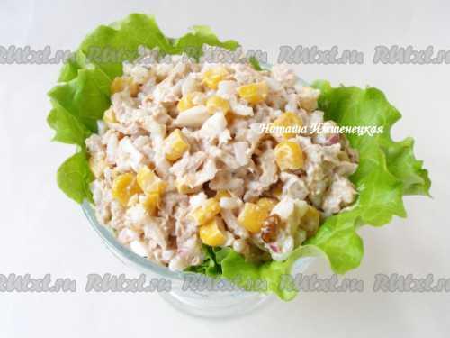 Рецепты салата с тунцом консервированным,